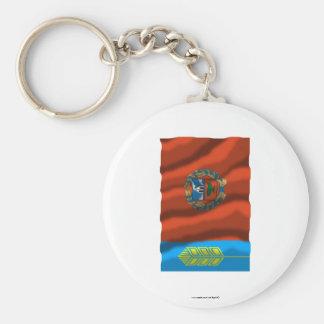 Altai Krai Flag Basic Round Button Keychain