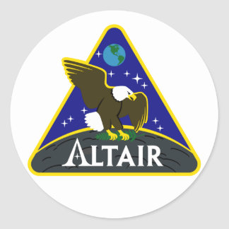 ALTAIR Lunar Exploration Vehicle Round Stickers