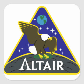 ALTAIR Lunar Rover Square Sticker