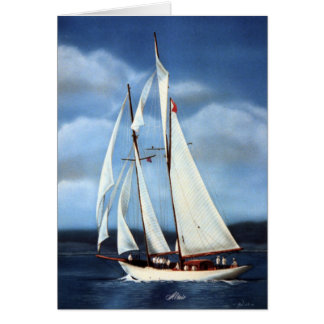 Altair Sailing Yacht Greeting Cards