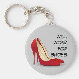 Altamente motivado: Trabajará para los zapatos Llavero Redondo Tipo Pin