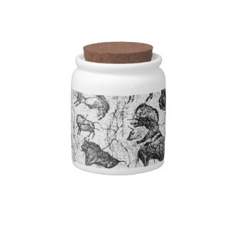 Altamira Cave-Painting Jar Candy Dish