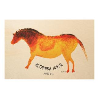 Altamira Horse Wood Wall Art