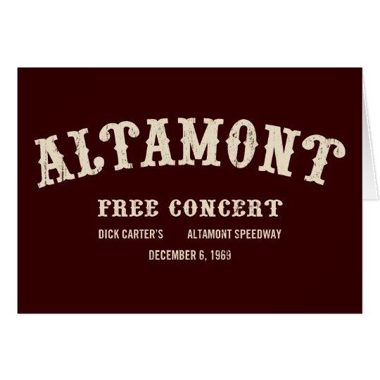 altamont free concert card