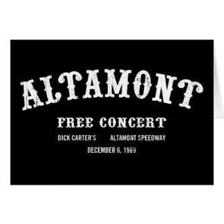 Altamont Free Concert Greeting Card