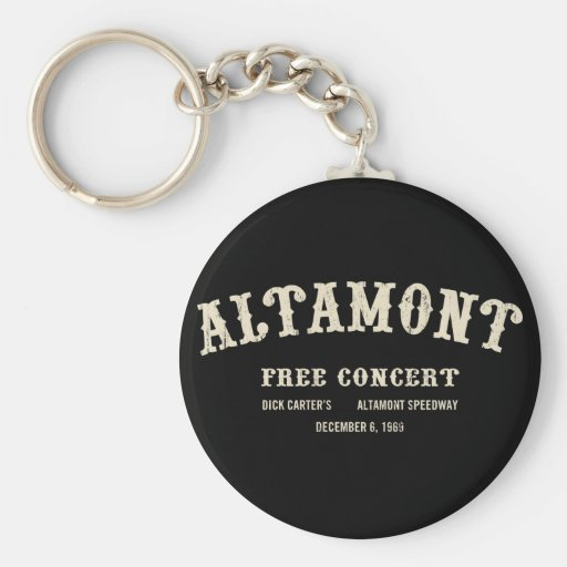 Altamont Free Concert Keychains