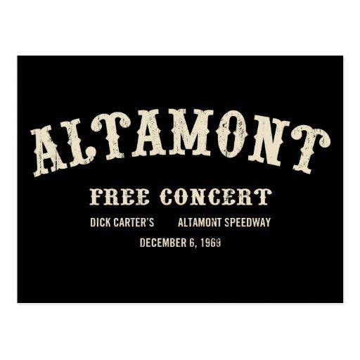 Altamont Free Concert Postcard