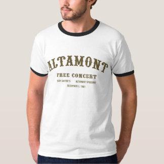 altamont free concert t shirt