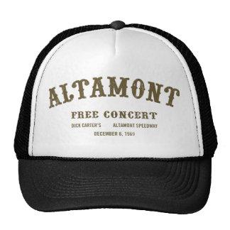 Altamont libera concierto gorras de camionero