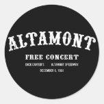 Altamont libera concierto pegatina redonda