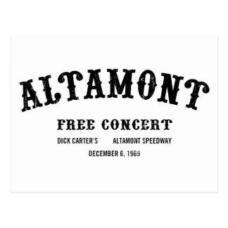 Altamont libera concierto tarjeta postal