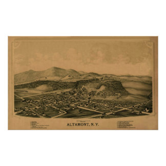 Altamont NY 1889 Póster