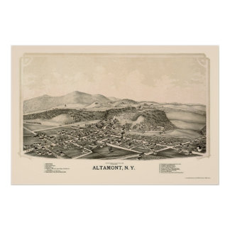 Altamont, NY Panoramic Map - 1889 Poster