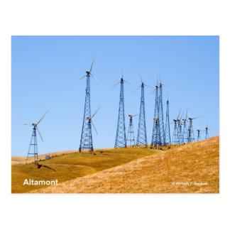 Altamont Windmills California Products Postcards