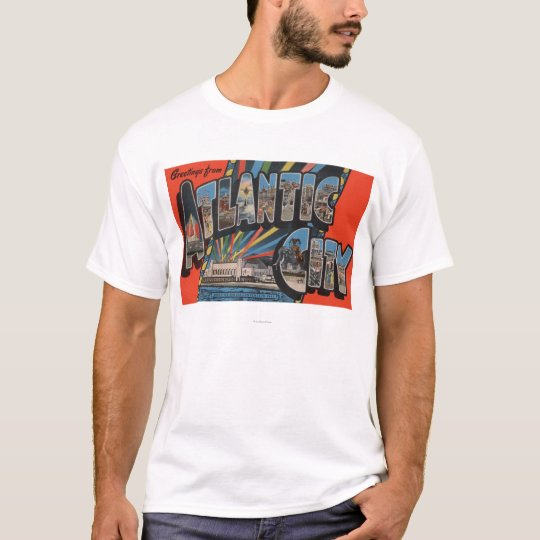 Altantic City, New Jersey - Large Letter T-Shirt