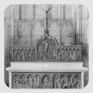 Altar and two altarpieces decorated square sticker