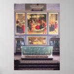Altar con un tríptico que representa impresiones