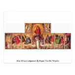 Altar del juicio pasado de Rogier van der Weyden Postales