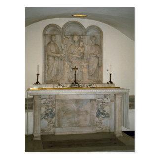 Altar en las catacumbas tarjetas postales