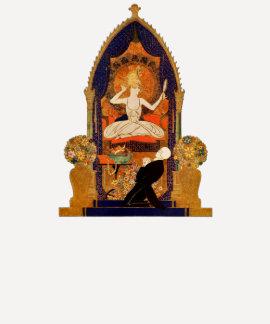 Altar indio de la mujer del hombre de la adoración remeras
