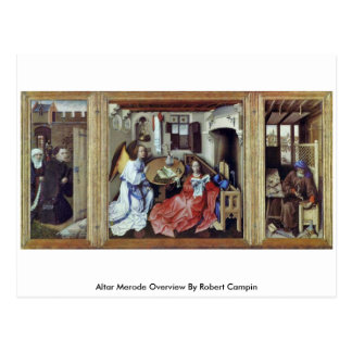 Altar Merode Overview By Robert Campin Post Card