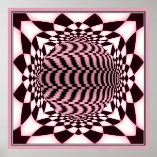 Altar of Rotating Pink Globe Poster