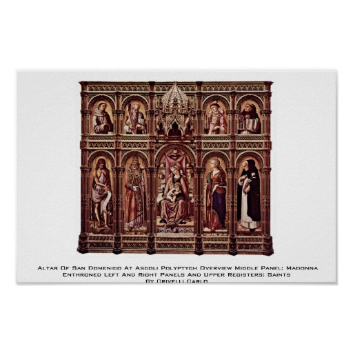 Altar Of San Domenico At Ascoli Polyptych Overview Poster