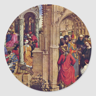 Altar Of Stabwunders And The Marriage Of Mary Round Sticker