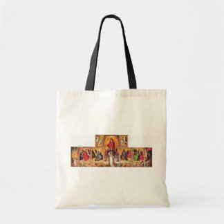 Altar Of The Last Judgment In Beaune Overview Open Tote Bags