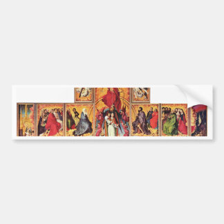 Altar Of The Last Judgment In Beaune Overview Open Bumper Stickers