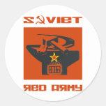 Altar soviético del ejército rojo etiqueta redonda