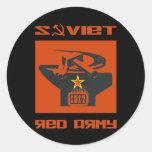 Altar soviético del ejército rojo pegatinas redondas