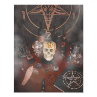 Altar total negro póster