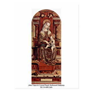Altar Triptych Central Panel: Enthroned Madonna Postcards