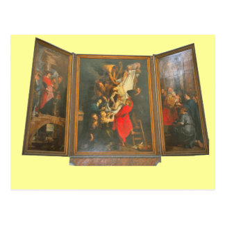 ALtar triptych from a church in north Holland Post Card