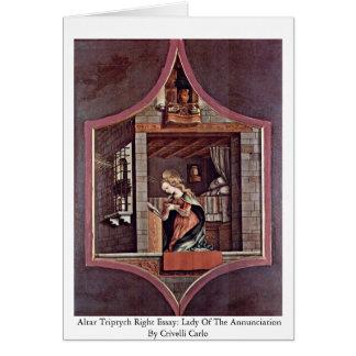 Altar Triptych Right Essay Card