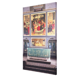Altar with a Triptych depicting Canvas Print