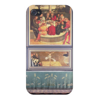 Altar with a Triptych depicting iPhone 4 Covers