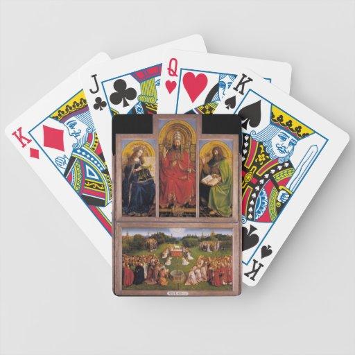 Altarpiece de enero van Eyck- The Gante Baraja Cartas De Poker