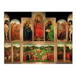 Altarpiece de enero van Eyck- The Gante Tarjeta Postal