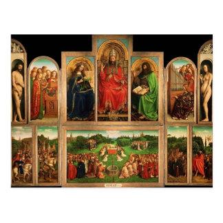Altarpiece de enero van Eyck- The Gante Tarjetas Postales