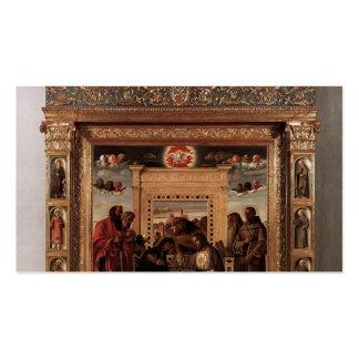 Altarpiece de Juan Bellini- Pesaro Plantilla De Tarjeta De Negocio