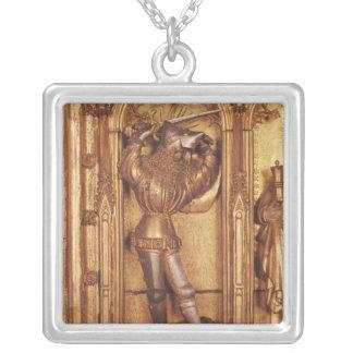 Altarpiece de la crucifixión, detalle del St. Grimpola Personalizada