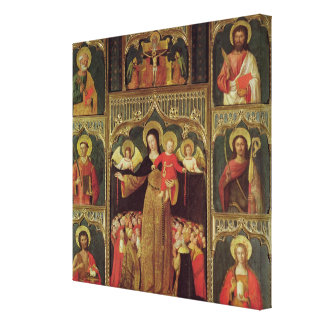 Altarpiece de la Virgen del rosario, c.1500 Lienzo Envuelto Para Galerías