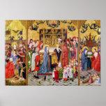 Altarpiece de las siete alegrías de la Virgen Póster