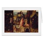 Altarpiece de los ermitaños (aceite en el panel) tarjeta de felicitación