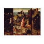 Altarpiece de los ermitaños (aceite en el panel) tarjetas postales
