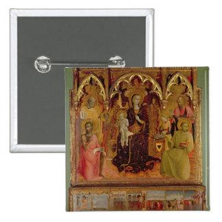 Altarpiece de Madonna de la nieve, c.1430-32 ( Pin Cuadrado