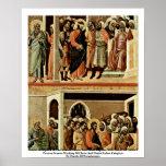 Altarpiece de Maestà de la tubería de la parte Posters
