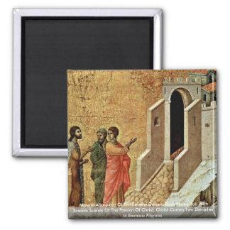Altarpiece de Maestà del Duomo de Sienese Imán Cuadrado